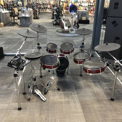 Strike Pro Kit 11-Piece Professional Electronic Drum Kit with Mesh Heads